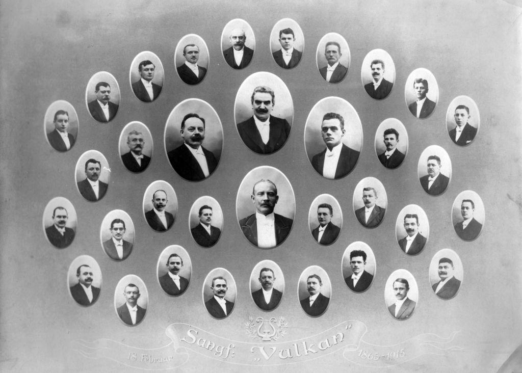 59.154 Vulcan Koret dannet af smede på B og W i 1865. Her der de portrætteret i1915 ved 50års jubilæet.   K-O 22.5.17