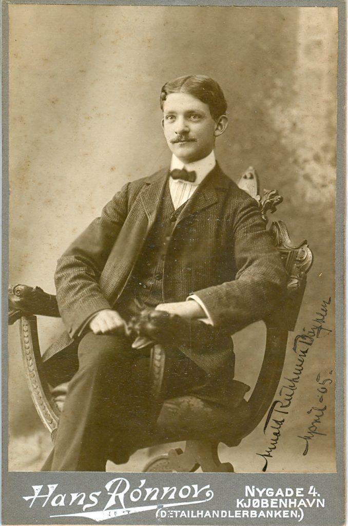 1.5  Portræt af Arnold Ruhwer Bøytler.   April 1905    Hans Rønnov Nygade 1164
