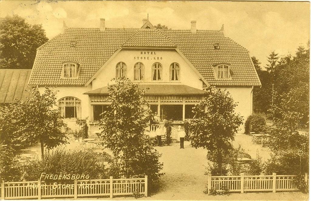 3480.41  Hotel Store Kro  Kort poststemplet september 1914