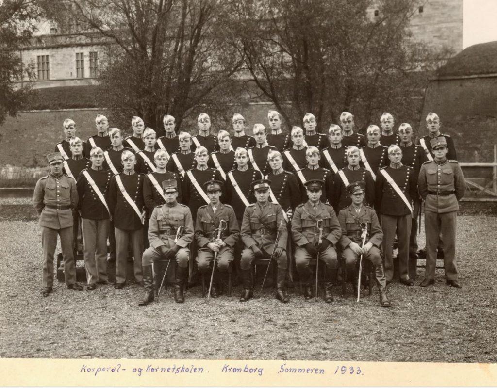 Korporal- og kornetskolen Kronborg sommeren 1933