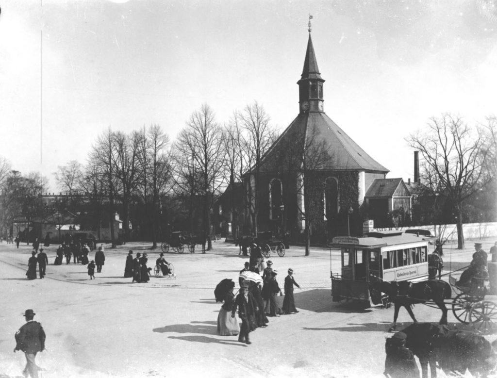 10972.9 Frederiksberg Runddel ca. 1890  Endnu en Heinrich Barby glasplade 2000 F  G.K. 24.5.2018