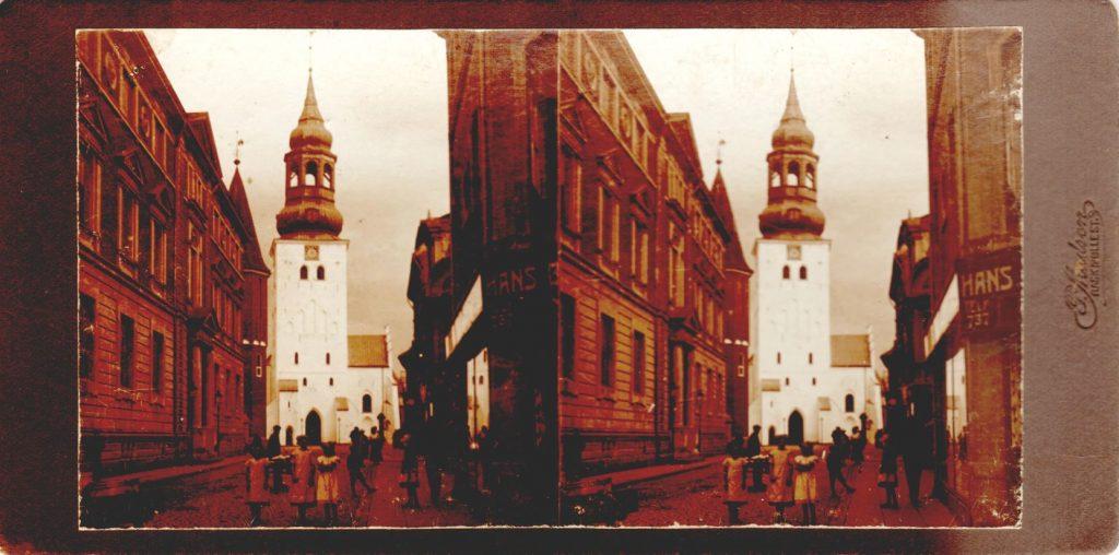 11432.4  Budolfi Kirke, Aalborg cirka 1914  Fotograf Peter Møller, Rask Mølle  FB- Historie Aalborg 28.4.2019