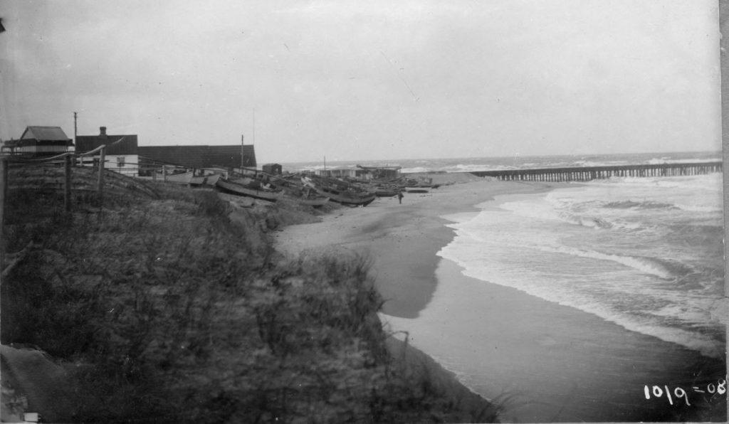 71.124  Vorupør 4. februar 1909. Landingspladsen ødelagt. Vi jævnede den ud. 7700  FB Vorupør 9.9.2017