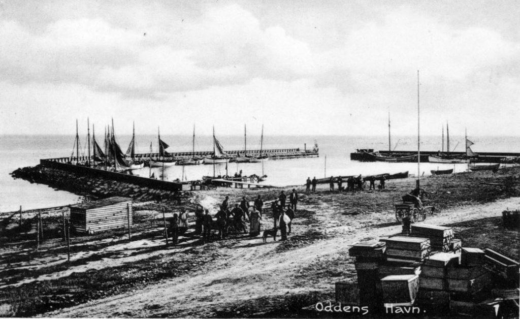 71.135 Oddens havn ca 1916 4583 Sjællands Odde