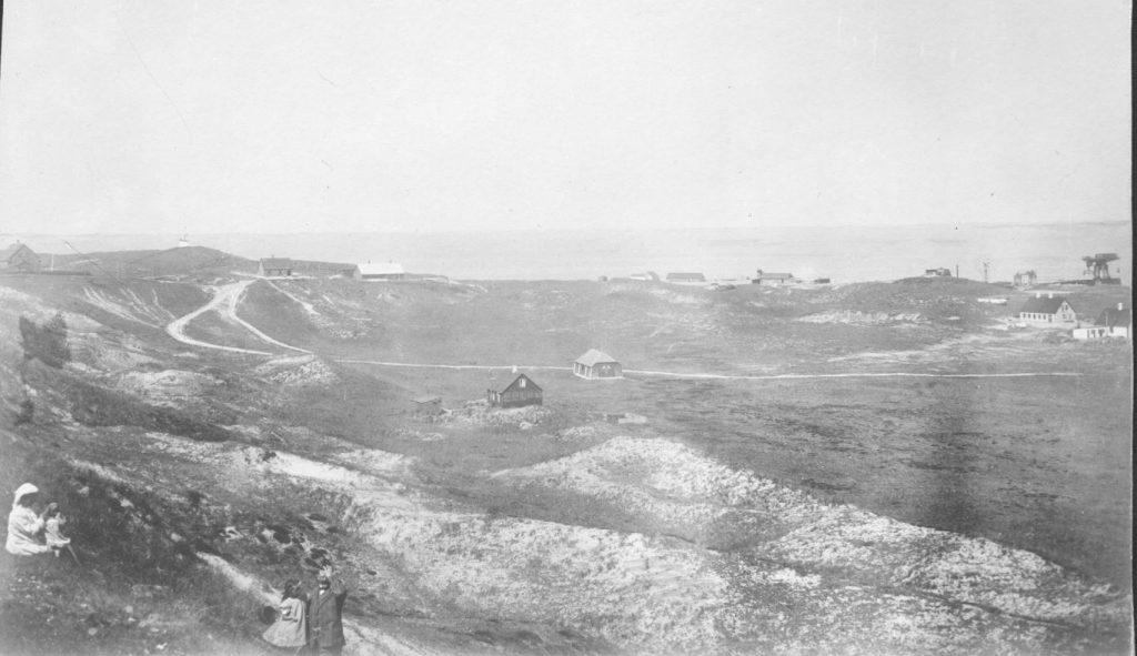 71.183 Vorupør ca. 1910 : Udsigt fra ingeniørboligen ved Hanstholm 7730