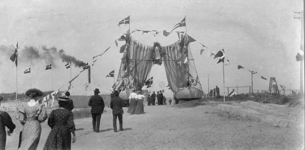 71.63 Frederik 8. besøg i Vorupør, 8. august 1908 Thisted 7700