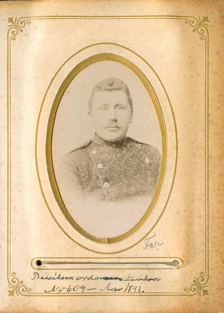 9.10.3  Batallion Ordonans Nr 609 Aar 1891 Christian Jensen