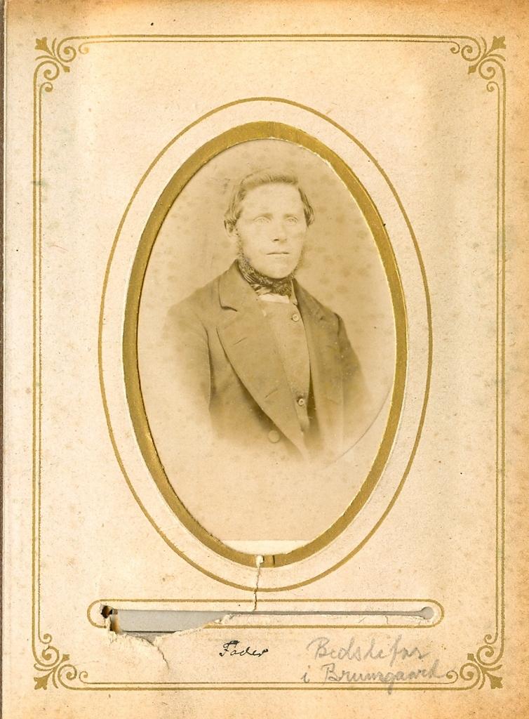 9.19.1  Bedstefar i Bruunsgaard, Vandborg  Jens Jensen Brunsgaard ca 1880.