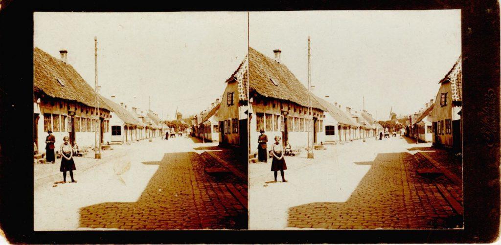 11432.16  Gade i Kerteminde cirka 1914  Fotograf Peter Møller, Rask Mølle