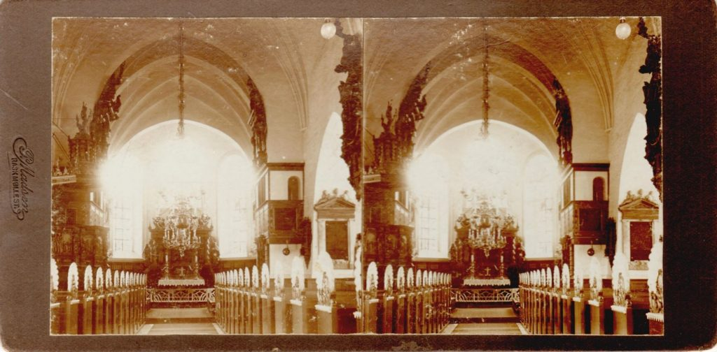 11432.19  Budolfi Kirke, Aalborg cirka 1914  Fotograf Peter Madsen, Rask Mølle