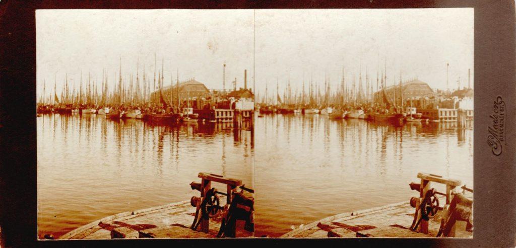 11432.5  Fiskerihavnen ved Esbjerg, August 1914  Fotograf Peter Møller, Rask Mølle