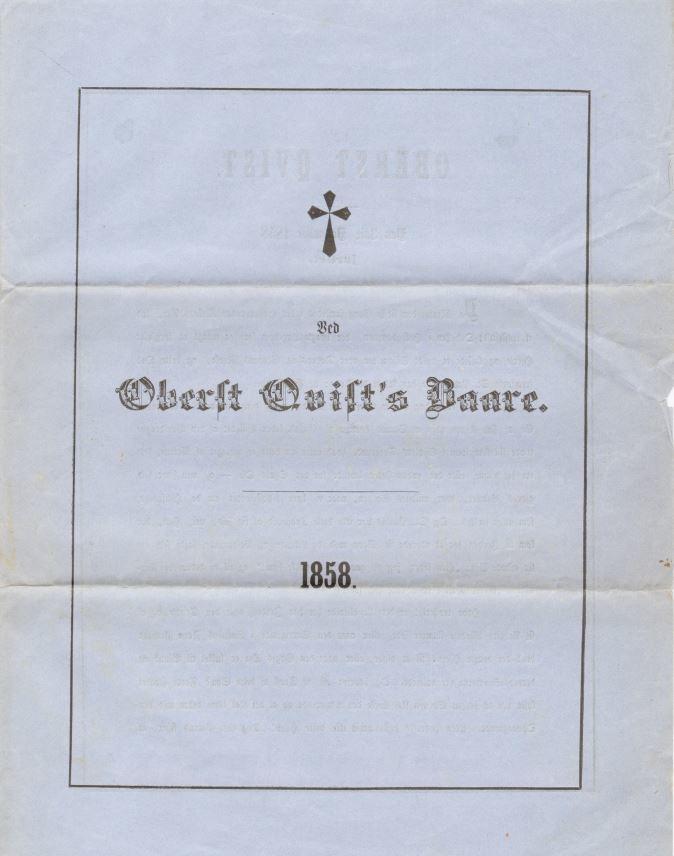 75.122.1  Sang ved Peter Martin Quists båre ved hans død 27. november 1858. Quist var murermester og chef for Københavns brandkorps. Svigerfar til G.F Borch. Se mere om Quist i Wikipedia.