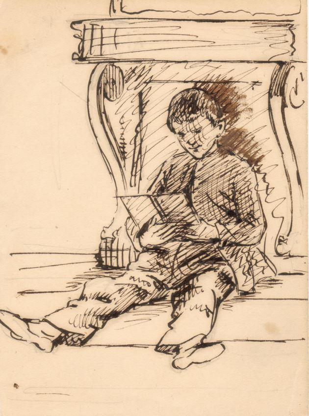 75.126.1  Georg Ferdinand Borch 1849 ( 14 år) Tegnet af kunstmaleren Frederik Christian Lund f. 1826