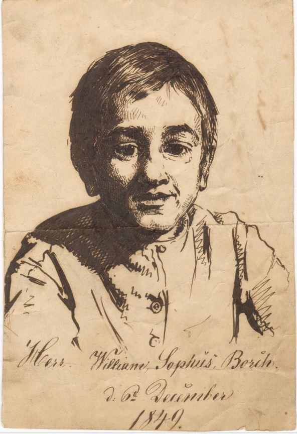 75.127.1  William Sophus Borch 1849 ( 12 år) Tegnet af kunstmaleren Frederik Christian Lund f. 1826