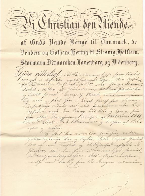75.143.1  Beskikkelse som praktiserende læge for Georg Ferdinand Borch. Dateret 16. september 1899