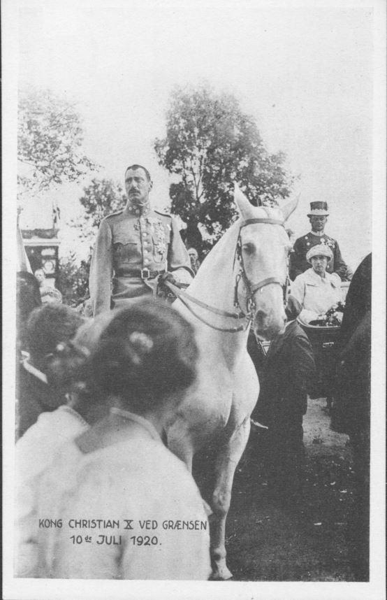 68.3 Kong Chr. X ved grænsen 10. juli 1920.SB 18.9.17