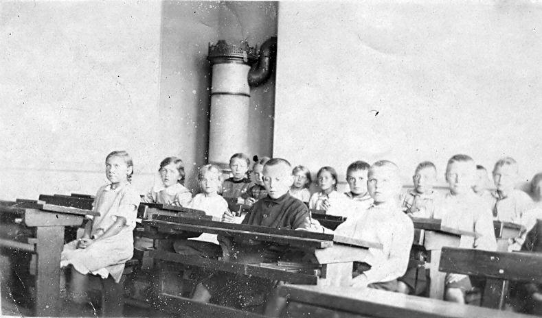 10.153Interiør fra Havreholm nye skole (efter 1918).