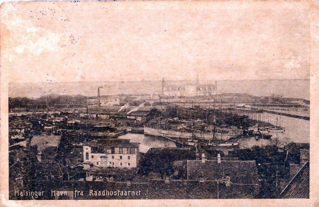 10.29 Helsingør havn, set fra rådhustårnet