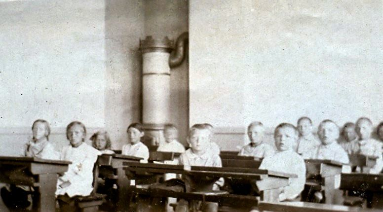 10.93 Interiør fra Havreholm nye skole (efter 1918).