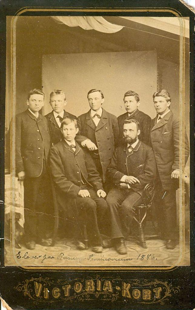 9.1 Elever på Ranum Seminarium 1886.