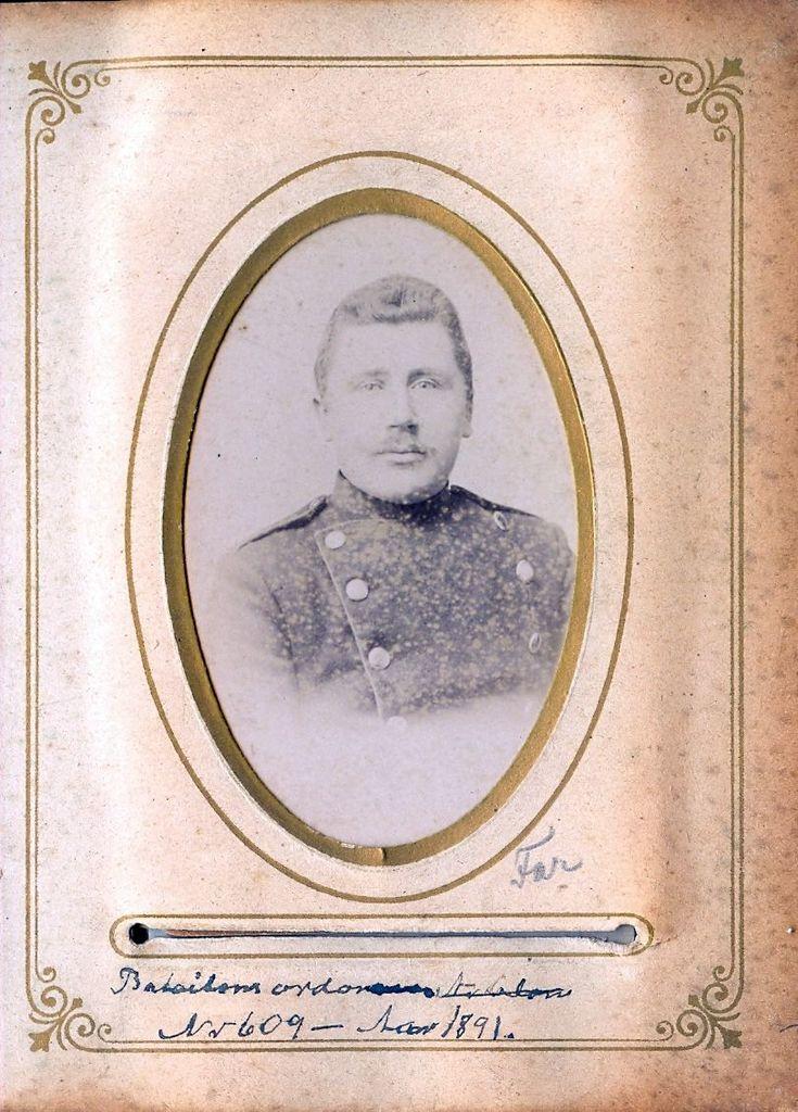 9.10 Batallion Ordonnans Nr 609. Aar 1891