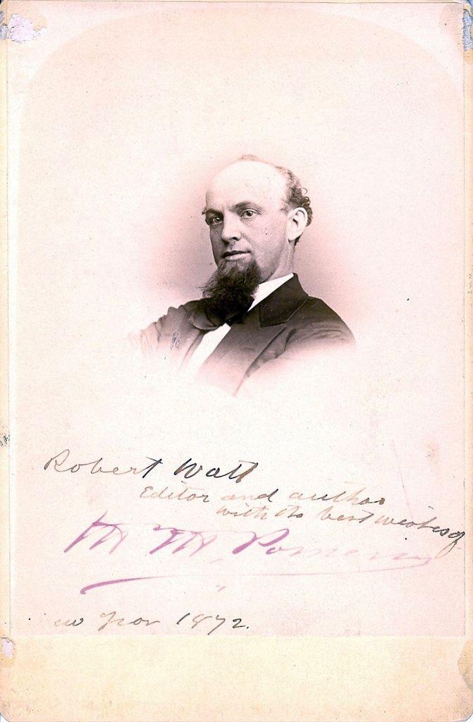 15.18 Robert Watt 1837-1894 forfatter, teaterdirektør, Tivolidirektør.