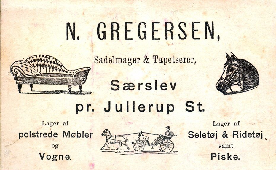 16.90 Sadelmagerens visitkort