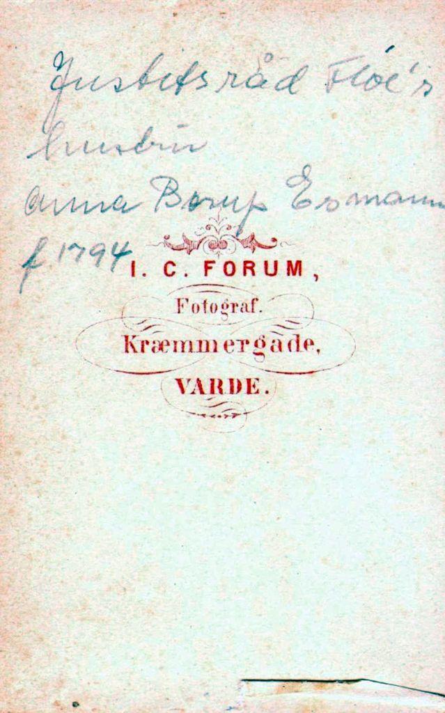 18.60 Anna Borup Esmann f.12.7.1794, justitsråd Esmanns hustru.
