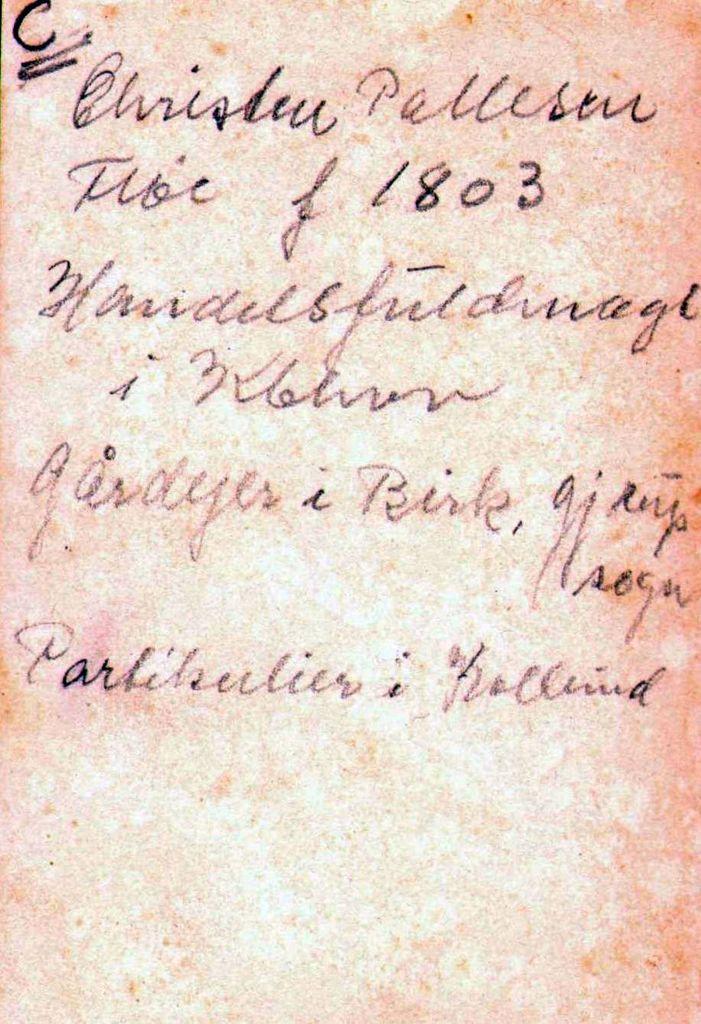 18.62 Chresten Pallesen Fløe f.27.11.1800.