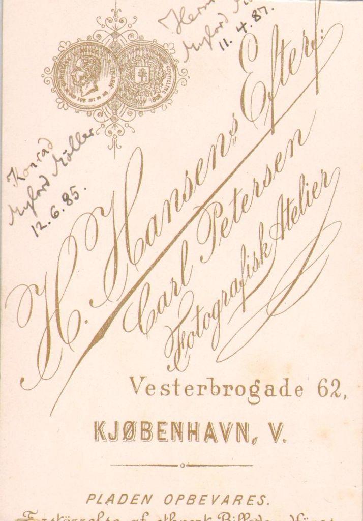 21.8 Konrad Mylord Møller, f.12.6 1885 og Hermann Mylord Møller f. 11.4.1887