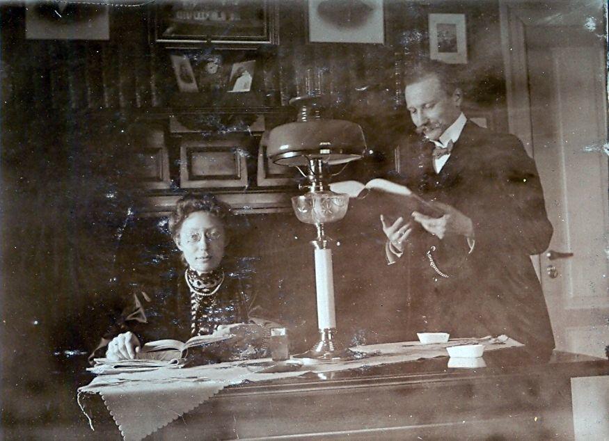 Erna og Wilhelm Schmuhl forår 1908
