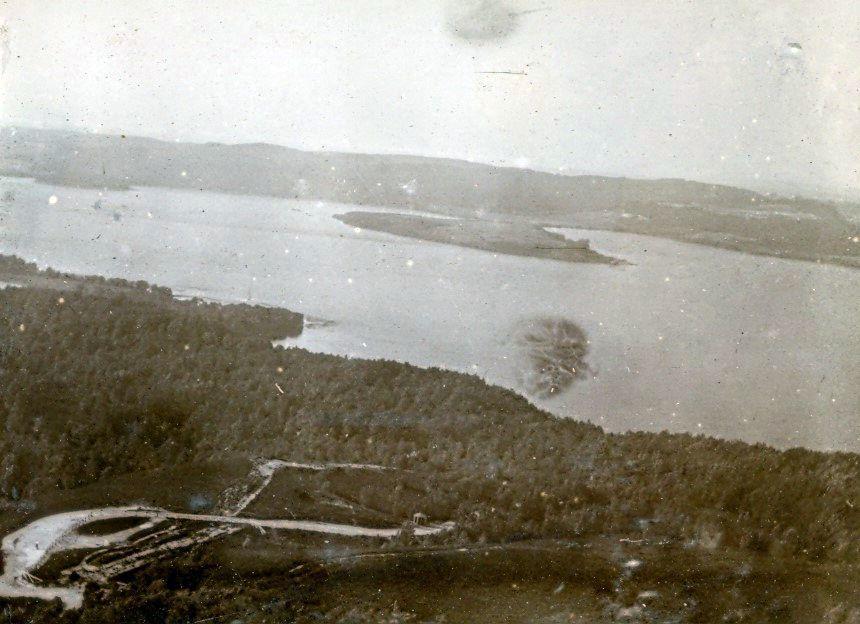 30.76 Udsigt fra Dronningestol ved Silkeborg- Jyllandsturen juni 1908. Silkeborg 8600
