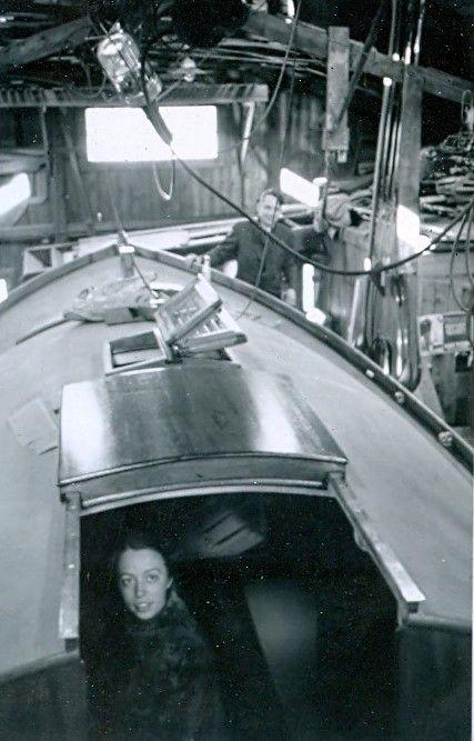 30.513 Sejlbåden Callina bygges. Her i november 1937.