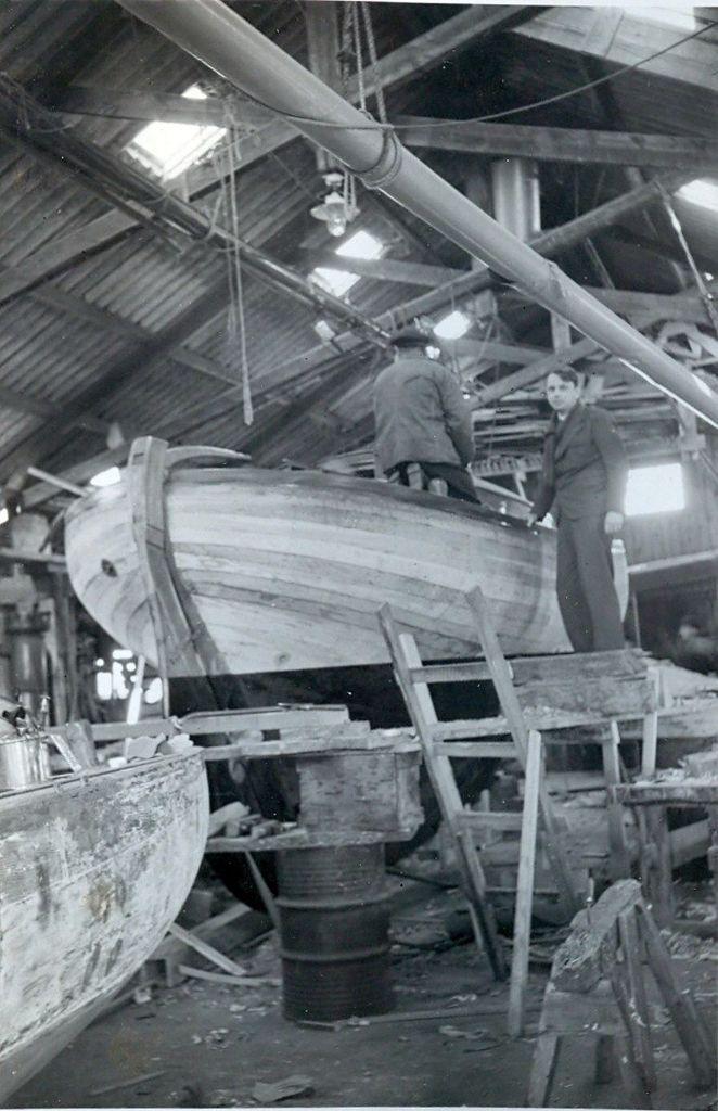 30.514 Sejlbåden Callina bygges. Her i november 1937.