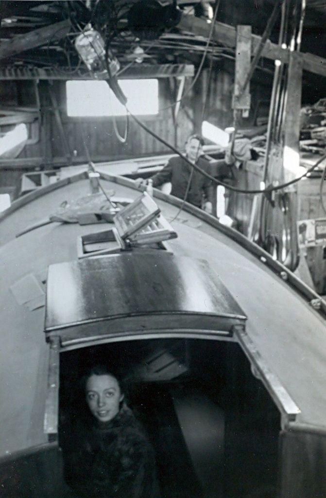 30.515 Sejlbåden Callina bygges. Her i november 1937.