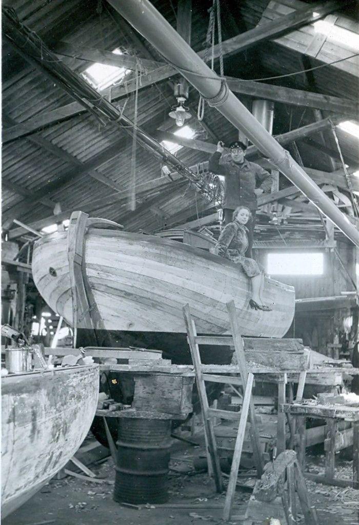 30.516 Sejlbåden Callina bygges. Her i november 1937.