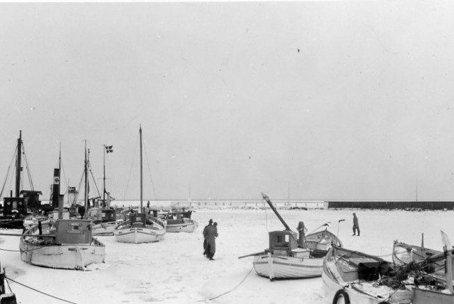 30.604 Isvinteren 1939-40, Dragør havn, 2791