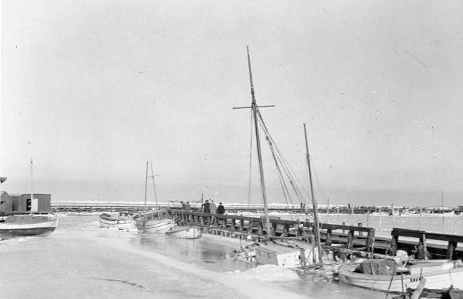 30.605 Isvinteren 1939-40, Dragør havn, 2791