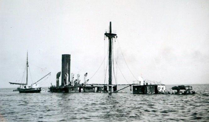 30.808 Ukendt skibsvrag, måske i Lillebælt.