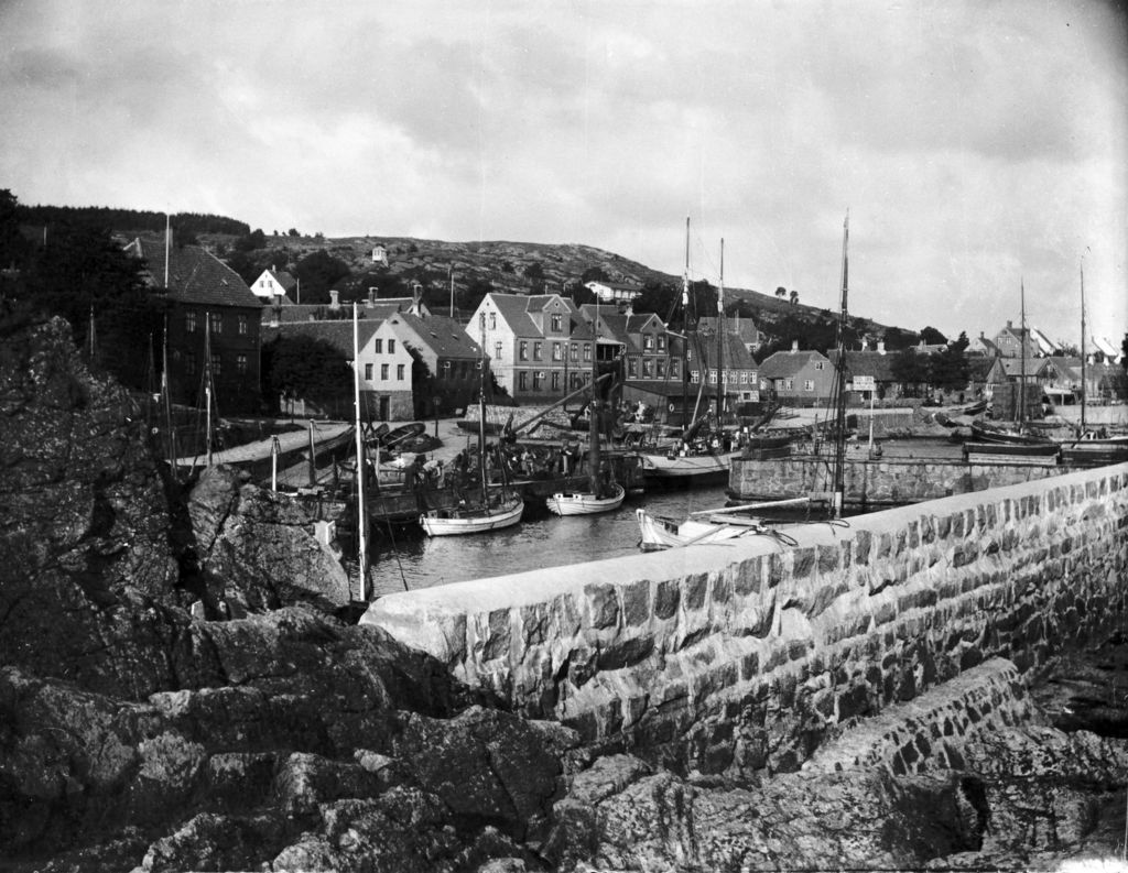 22.111 Gudhjem Havn. Bornholm 20. august 1910