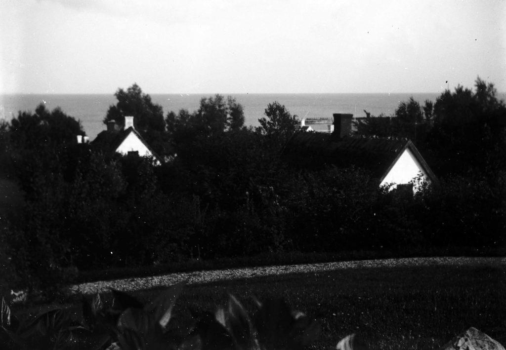 2.5  ukendt, dateret 1913- Måske udsigt over Sletten fra Skolebakken 10, Humlebæk