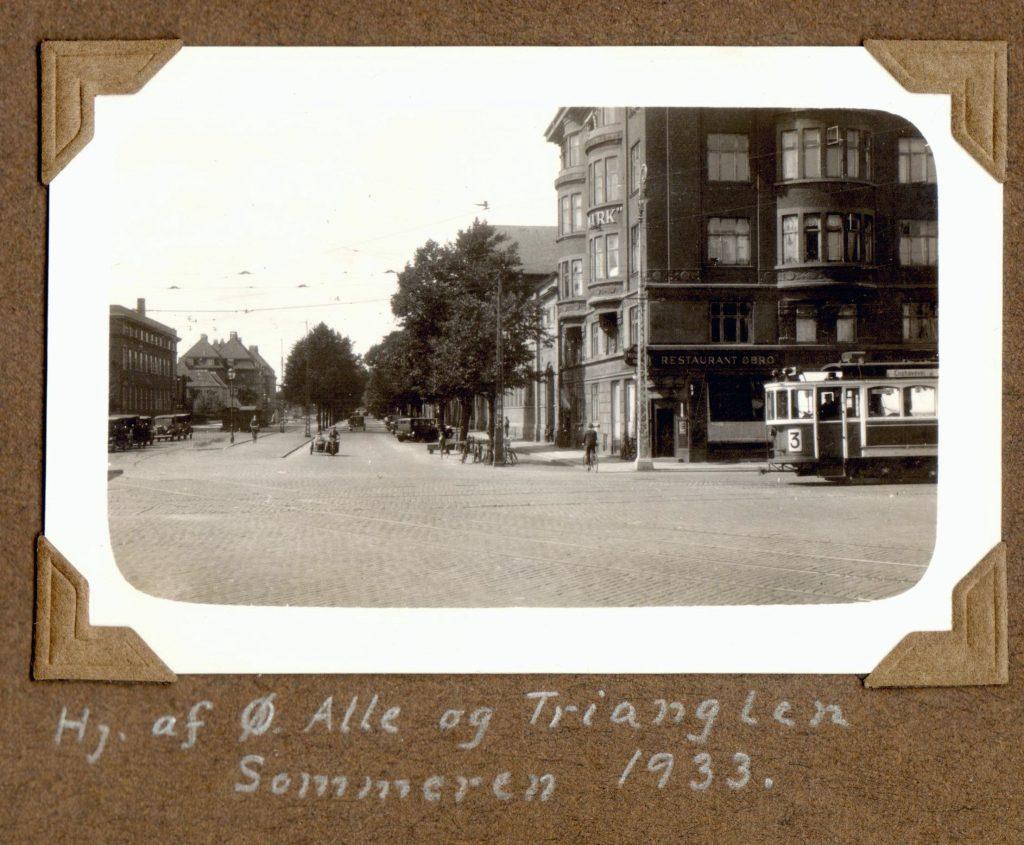 70.10 Hjørnet af Øster Alle og Trianglen, sommeren 1933