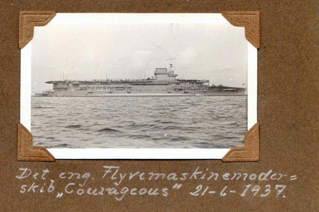 70.123 Det engelske hangarskib Courageous, 1937