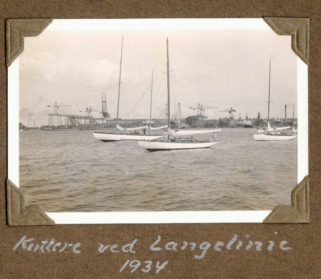 70.29 Kuttere ved Langelinie 1934
