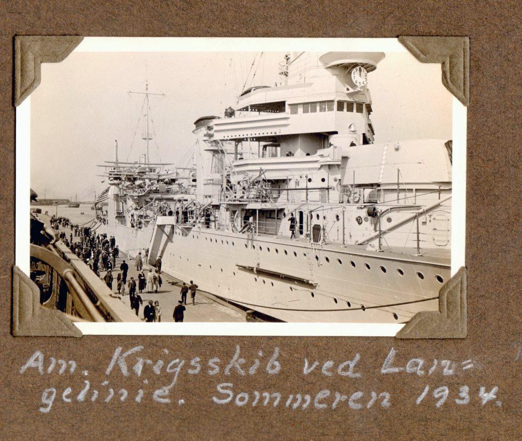 70.31 Amerikansk krigsskib ved Langelinie