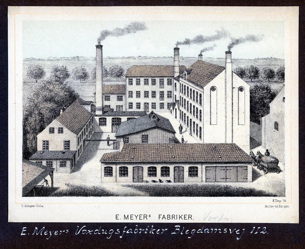 70.431 E. Meyers voksdugsfabrik, Blegdamsvej 112.