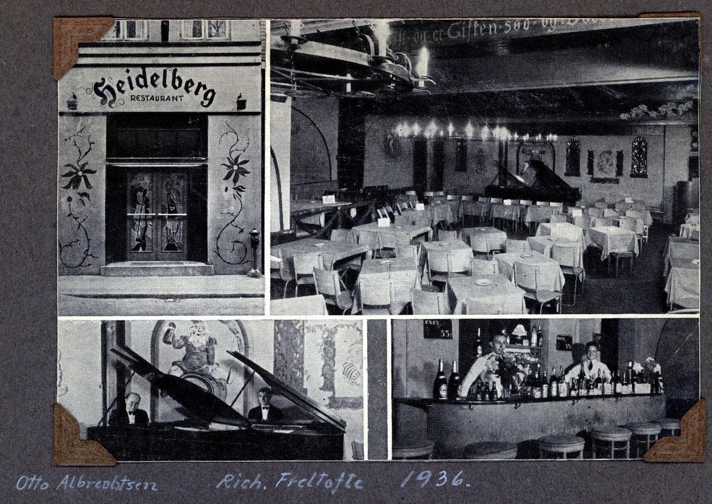 70.321 Heidelberg restaurant 1936.